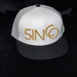 5inco hat black and golden